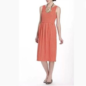 Anthropologie Postmark Retro Glam Midi Flare Dress